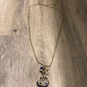 Long necklace with medallion